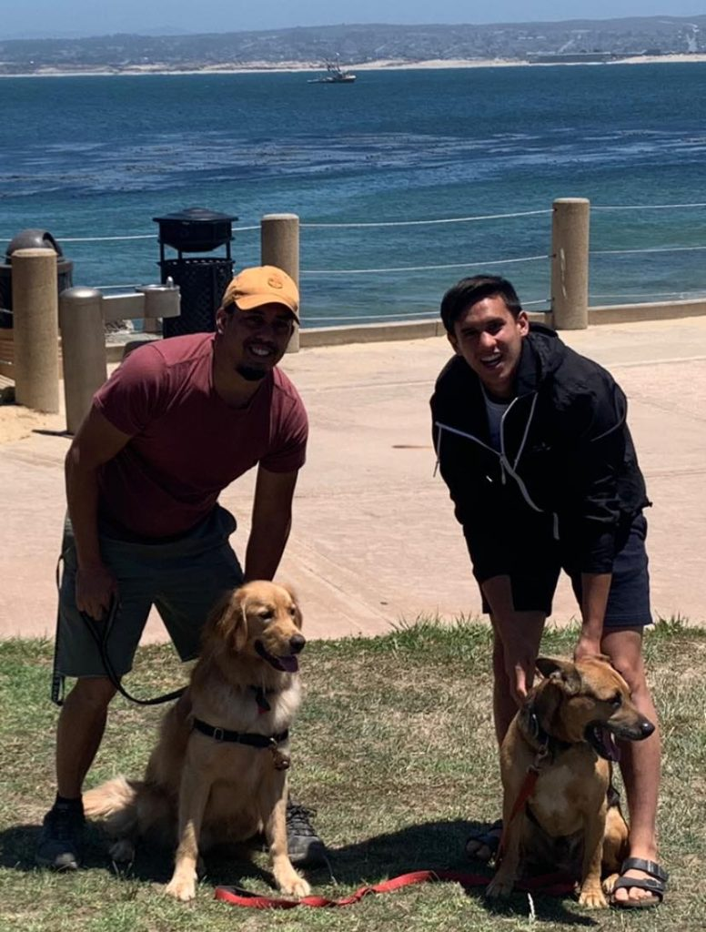 Joe & Mike with dogs
